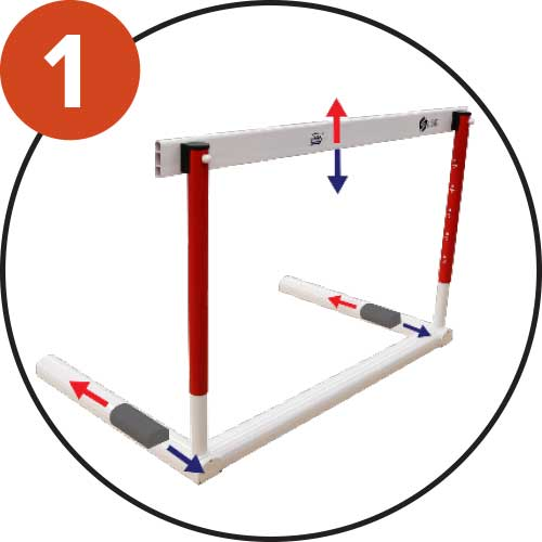 Adjustable height at 5 levels: (0.76m - 0.84m - 0.92m - 0.99m - 1.06m)