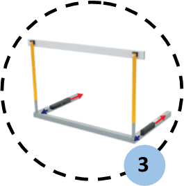 Counterweights can be adjusted to 5 positions, allowing optimal balance for tipping force, accordingly with IAAF recommendations