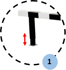 Height adjustable: 0.76m - 0.84m - 0.92m